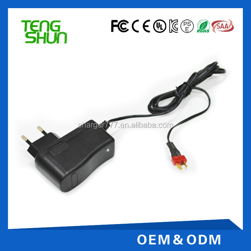 Remote control car 12V0.8A lead acid battery charger with CE UL SAA ROHS