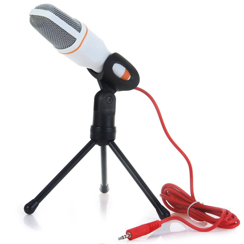Professional Condenser with Stand for PC Laptop Skype Recording Sound Microphone