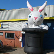 Easter decoration use inflatable Bunny rabbit in the hat