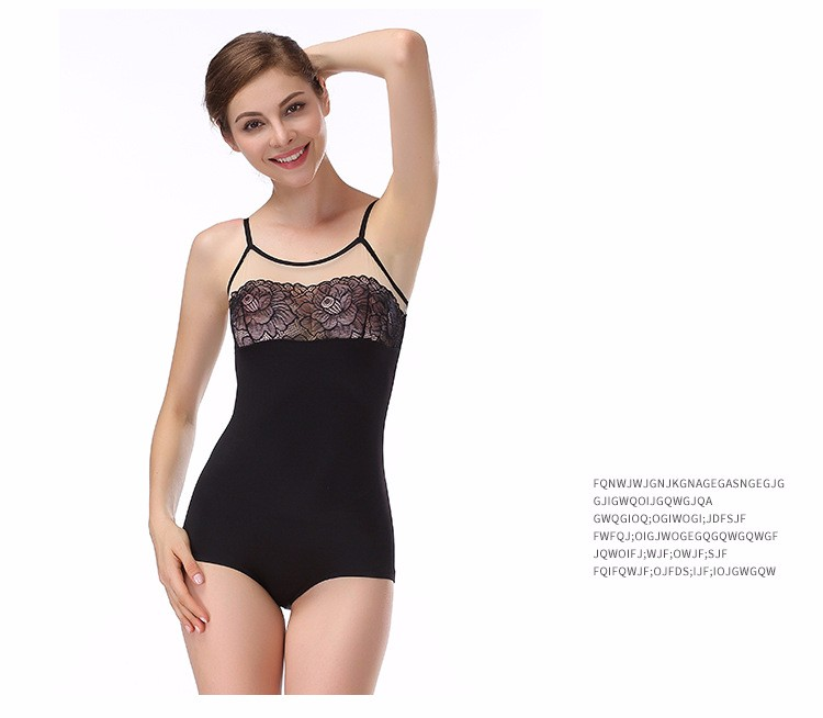 Women Lingerie Lace Teddy Features Plunging Snaps Crotch