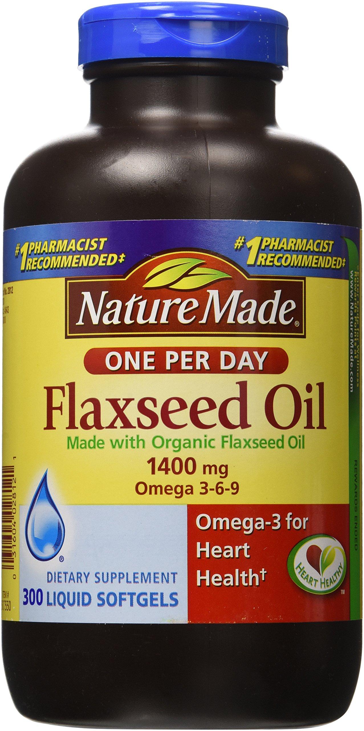 Buy Nature Made Organic Flaxseed Oil 1,400 mg - Omega-3-6-9