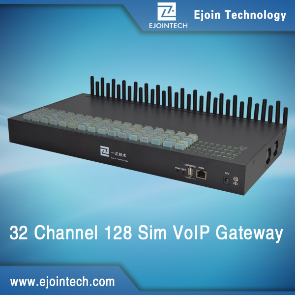 sip sms and calling gsm sim voice box voip payment gateway 32-port with data simulation