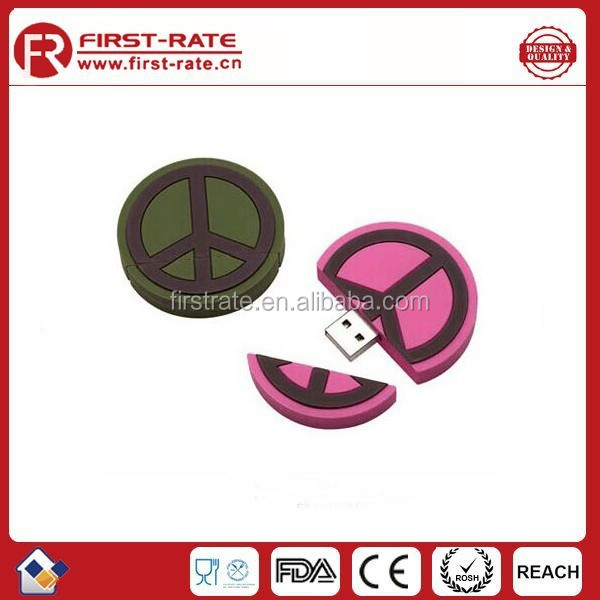 FR-SY172 customized promotion pvc rubber cheap <strong>USB</strong>