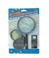 blister card magnifier three-piece plastic magnifying glass