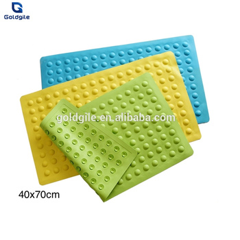 Goldgile Clic Anti Slip Rubber Shower Mat With Suction Cups