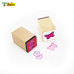 Custom wooden mini cute stamps supplied by manufacturer