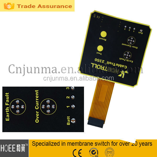 NEW! Overlay Membrane, FPC Membrane Switch With LED Metal Dome Tactile