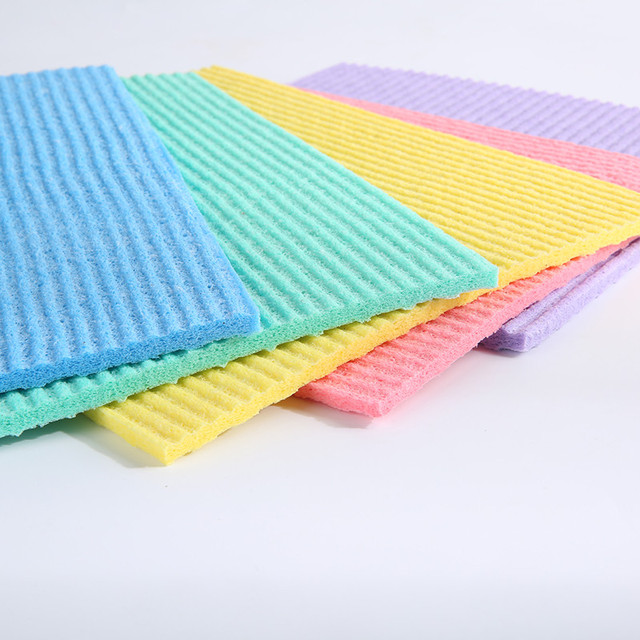 Customized natural facial cleaning cellulose sponge cloth at wholesale price