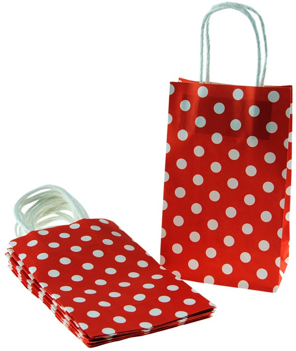 Red Polka Dot Paper Bags Trend