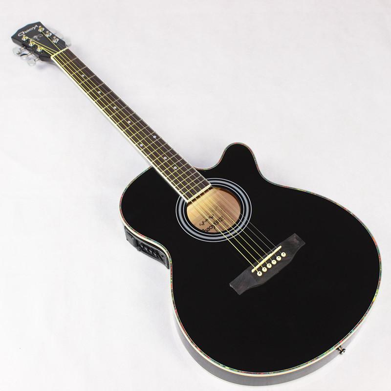 genuine 40 inch black acoustic guitar guitar eq slim barrel body electric guitar jita box guitar. Black Bedroom Furniture Sets. Home Design Ideas