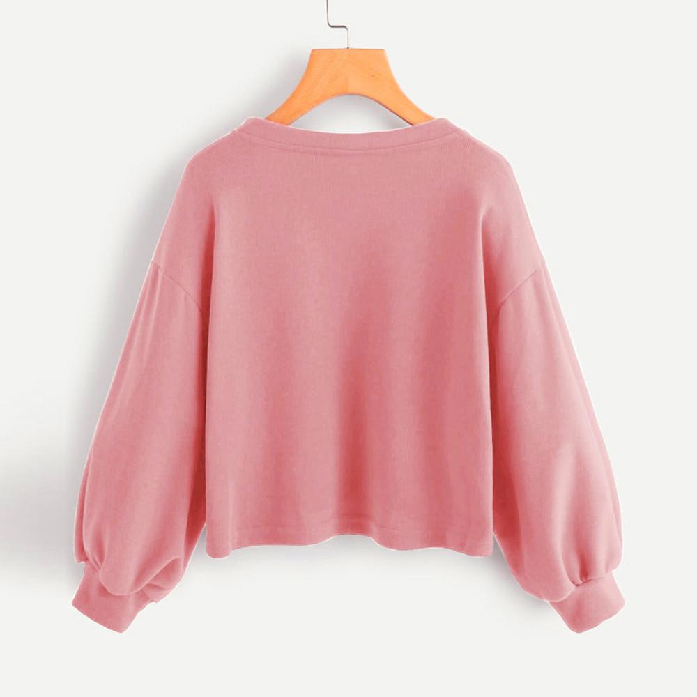 Moda ciepłe bluzy damskie jednokolorowa na co dzień opuszczane ramiona latarnia rękaw bluza pulowerowe topy bluzy moleton feminino longo