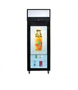 transparent LCD screen refrigerator glass door /video display glass door refrigerator