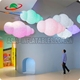 Hot Sale Custom Wonderful Colorful Inflatable Cloud Led / Cloud Shaped Helium Balloon With Led Light For Exhibition