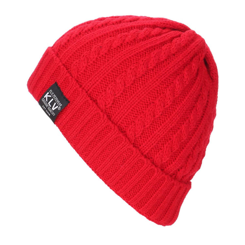 Hats, yijiamaoyiyouxia Men Women Baggy Warm Crochet Winter Wool Knit Ski Beanie Skull Slouchy Caps Hat