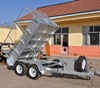 Hot dipped galvanized cheap hydraulic atv tipping trailer tandem axle trailer