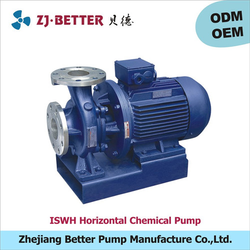 20kw ISWH horizontal stainless steel chemical centrifugal pump for caustic soda