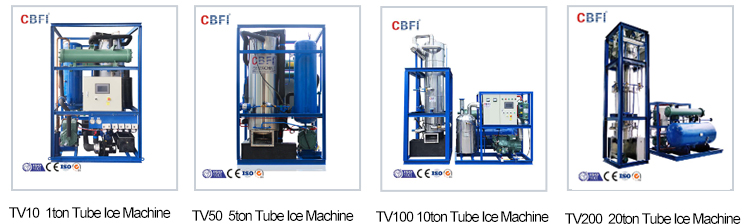 CBFI Commercial 350kgs per day Tube Ice Maker TV3.5 for sale
