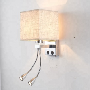 Hotel Bedroom Wall Light Led Reading Bedside Bracket Lamp With Adjule Beam Spot Lights