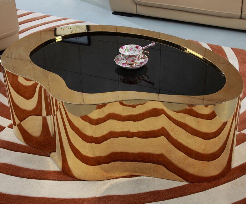 Salontafels Modern Design.Modern Design Royal Rose Goud Ronde Salontafel Salontafel Woonkamer
