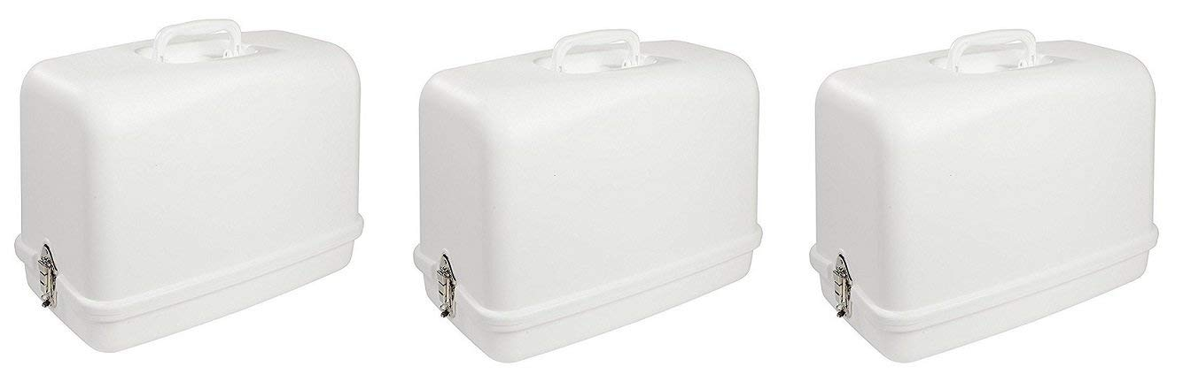 singer Universal Hard Carrying Case 611.BR for Most Free-Arm Portable Sewing Machines (Pack of 3)