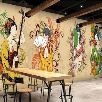 Japanese Cartoon Character Wallpaper Japanese Style Restaurants Wall