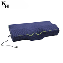 Electric butterfly massage cooling cervical memory foam pillows