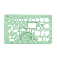 heating and ventilation ruler clear plastic drawing stencil template