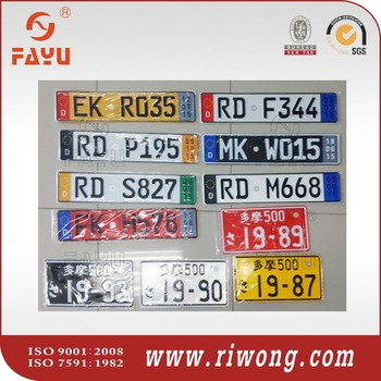 Japan License Plate Euro Car License Plate America License Plate