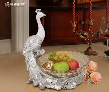 Whole Home Decoration Pieces Custom Resin Pea Fruit Plate Bowl