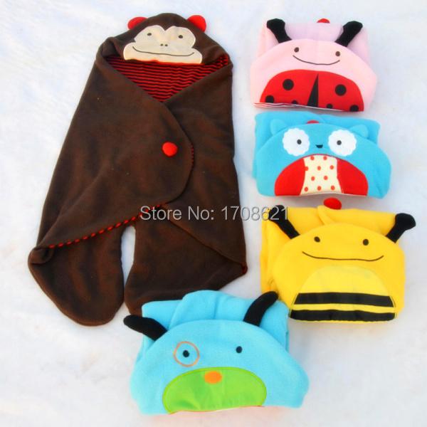 Детская коляска детские одеяла младенцы сон мешок комикс сон мешок полотенце прекрасный животное 4 цвета