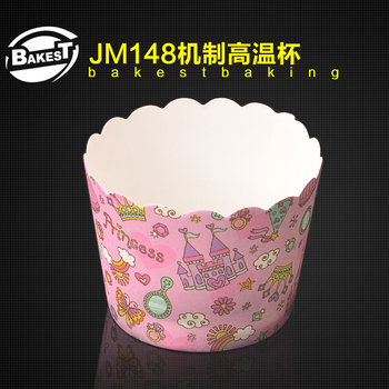 JM148 BAKEST medium castle pattern high temperature resistance muffin cake paper cup high quality baking tools