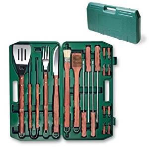 Picnic Time 18-Piece Deluxe BBQ Tool Set in Carry Case by Picnic Time Serveware