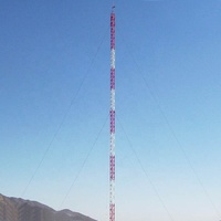 High quality galvanized telecommunication mast guyed tower