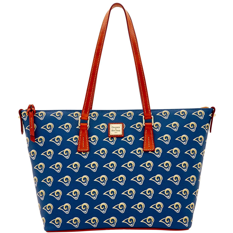 Dooney Bourke NFL Zip Top Shopper Los Angels Rams Top-Zip Handbags