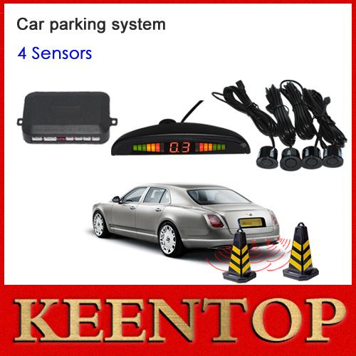 1 компл. автомобиля из светодиодов датчик парковки комплект дисплей 4 датчика для всех автомобилей обратный помощь системы резервирования радар монитор бесплатная доставка