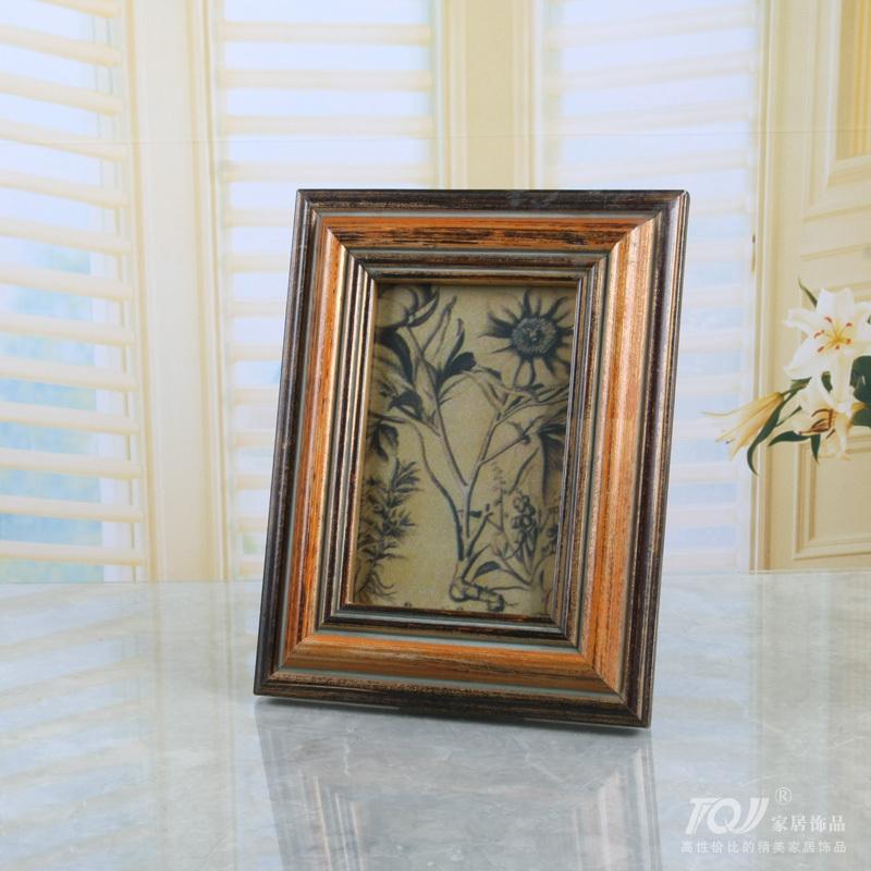 6 дюймов / 7 дюймов высокого класса европейский / американский деревянному каркасному / сделать старые прямоугольные фоторамка фотография стены украшения / Y106