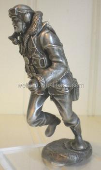 Pewter Military Pilot Figures,Tin Alloy Pilot Figurines,Metal Pilot - Buy  Metal Pilot Figures,Tin Alloy Pilot Figurines,Custom Pewter Figurines