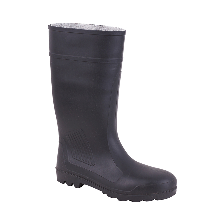 RB115 PVC and rubber easily dried fabric safety rain heavy duty boots