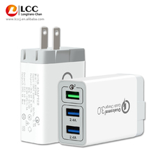 CE (halal) 인증 3 port usb 퀵 3.0 <span class=keywords><strong>충전기</strong></span> adaptive fast charging <span class=keywords><strong>ac</strong></span> 벽 charger