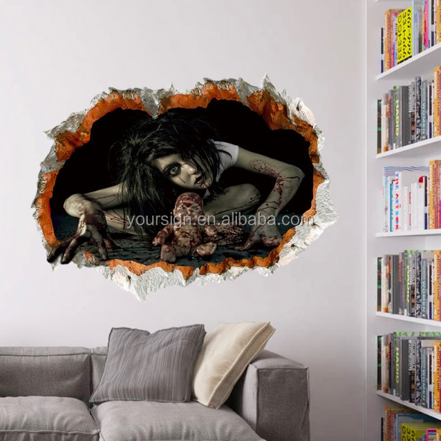 Custom halloween decoration 3d wall sticker