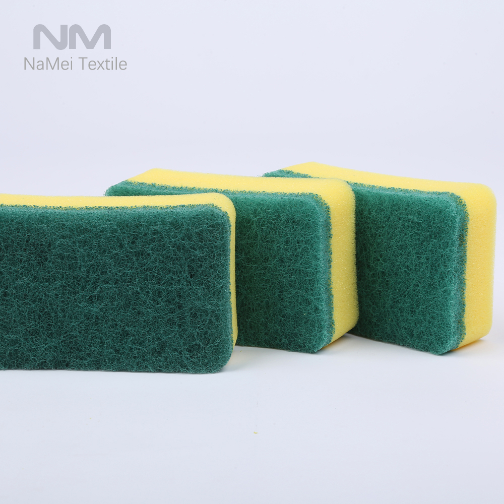 Microfiber Kitchen Cleaning Scouring Pad Sponge/Dish Washing Cloth