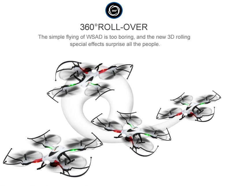 Remote control hexacopter H22 3D Inverted Flight 2.4G 4CH 6-Axis Mini RC Quadcopter RTF Headless Mode One Key Return Best Boy