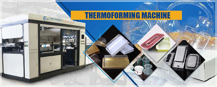 PET thermoforming making machine for biscuit tray