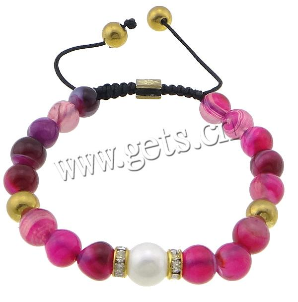 Rose Agate Other Shape Mens 9ct 375 Gold Bracelet