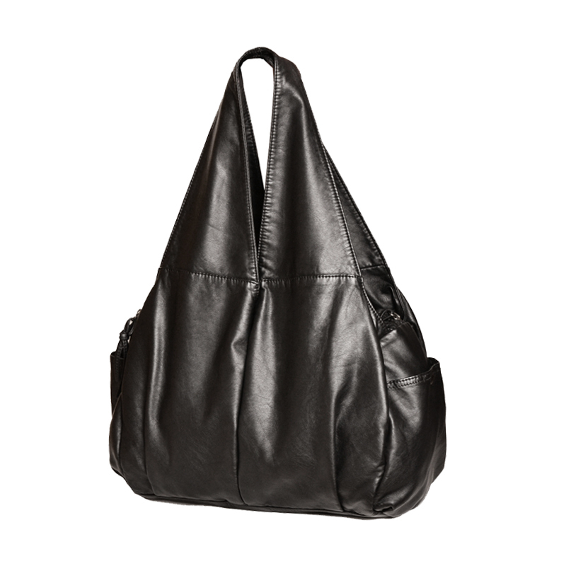 Женская сумка через плечо из искусственной кожи hobo, повседневная сумка-тоут из мягкой кожи, 2020(Китай)