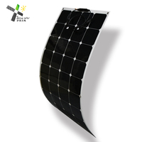 120w flexible solar panel for boats thin film solar cell with CE, ISO TUV ICE for boat