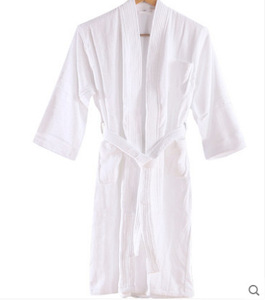 2018 Wholesale SPA Hotel White Bath Robe for Men and Women