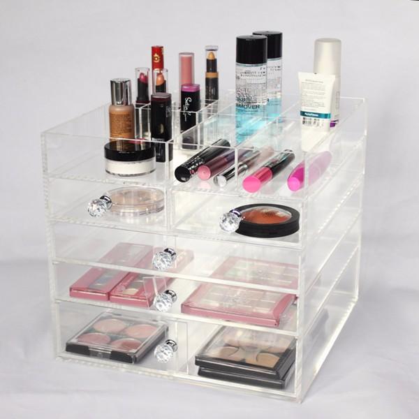 personnalis au d tail magasin plexiglas organisateur cosm tique maquillage clair de stockage. Black Bedroom Furniture Sets. Home Design Ideas