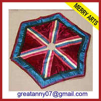 New Year Style Decorative Quilted Christmas Tree Skirt Pattern Made In China