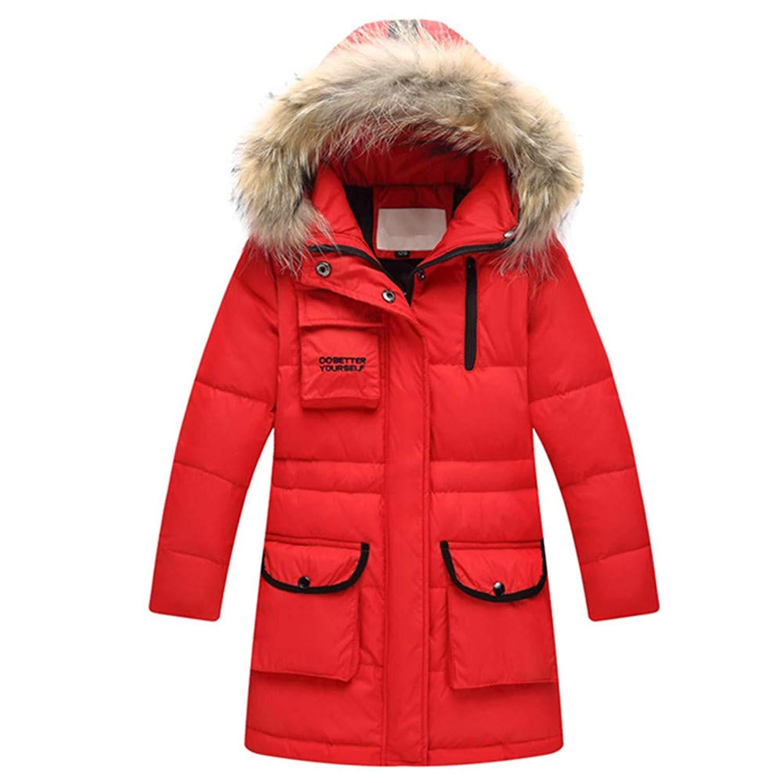 ZPW Boys Girls Winter Hooded Thick Warm Puffer Down Jacket